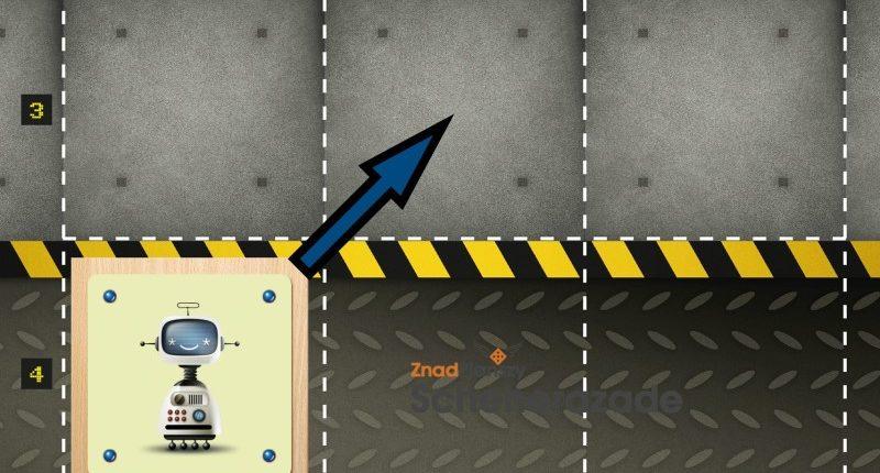 Robot może poruszyć się tylko w 1 kierunku