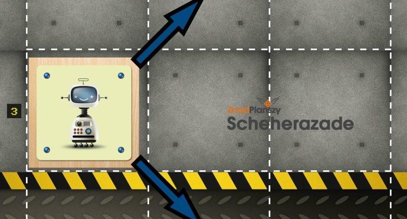 Robot może poruszyć się w 2 kierunkach