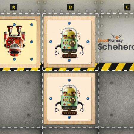 Czerwony robot w pułapce